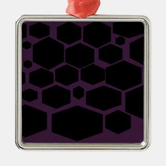 華美の六角形の設計 メタルオーナメント