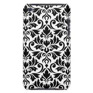 華麗さのダマスク織白の大きいパターン黒 Case-Mate iPod TOUCH ケース