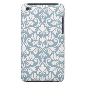 華麗さのダマスク織青の大きいパターンクリーム Case-Mate iPod TOUCH ケース