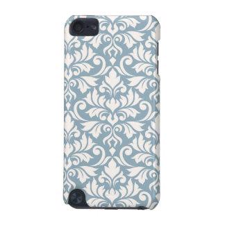 華麗さのダマスク織青の大きいパターンクリーム iPod TOUCH 5G ケース