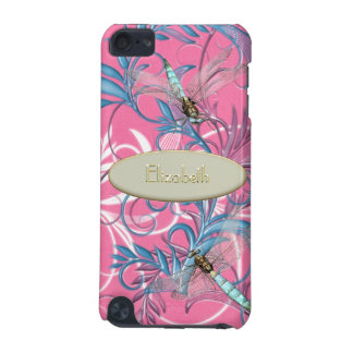 華麗さのピンクの場合の水のトンボ iPod TOUCH 5G ケース