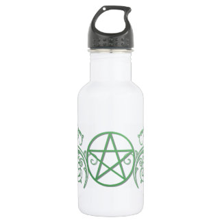 華麗さの緑の星形五角形 ウォーターボトル