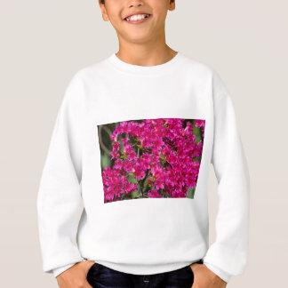 華麗なピンクの野生花の多く スウェットシャツ