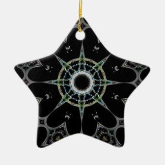 華麗な星のデザイン セラミックオーナメント