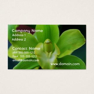華麗な緑の蘭 名刺