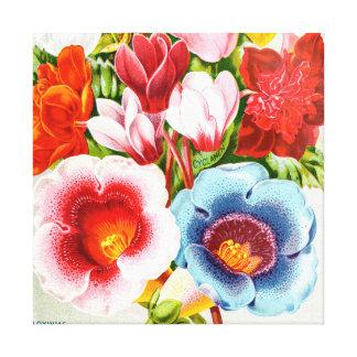 華麗な1896花柄の絵 キャンバスプリント