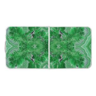 菱マンガン鉱の緑の石が付いているビールPongのテーブル ビアポンテーブル
