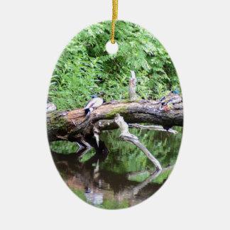 落ちたな木のアヒルのとまり木 セラミックオーナメント