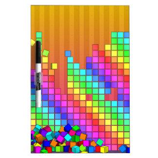 落ちたな立方体3Dのグラフィック・デザイン ホワイトボード