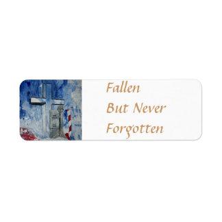落ちた、しかし決して忘れられる ラベル