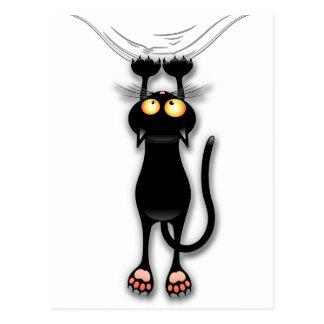 落ちているおもしろいの黒猫郵便はがき ポストカード