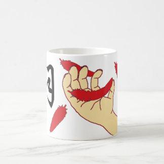 落ちる羽 コーヒーマグカップ