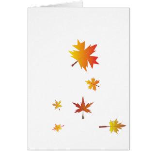 落ちる葉-感謝祭 カード