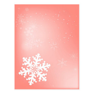 落ちる雪片 ポストカード