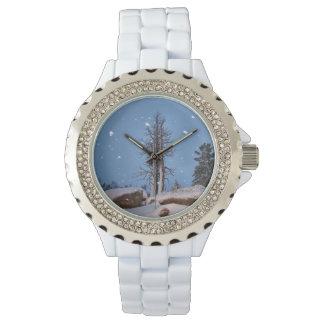 落ちる雪 腕時計