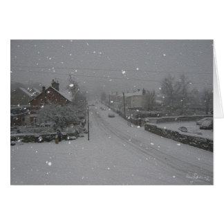 """""""落ちる雪""""、Winneyの丘、WoodallのHarthill カード"""