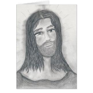 落ち着いたイエス・キリスト カード