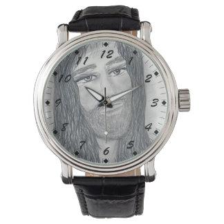 落ち着いたイエス・キリスト 腕時計
