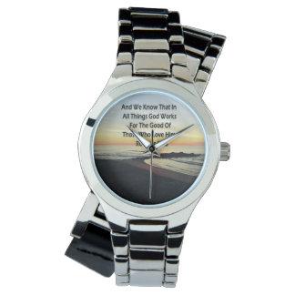 落ち着いた日の出のロマンの8:28の聖なる書物、経典 腕時計