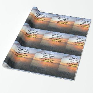 落ち着いた日の出のPHILIPPIANSの4:13の写真の聖なる書物、経典 ラッピングペーパー