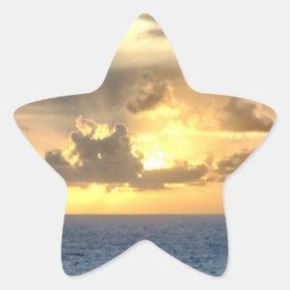 落ち着いた日の出 星シール