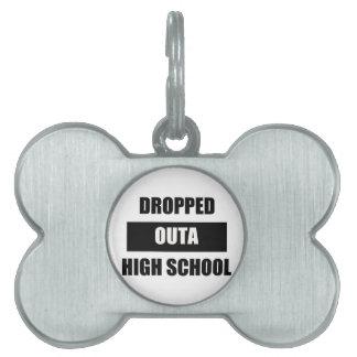 落とされたOUTAの高等学校 ペットネームタグ