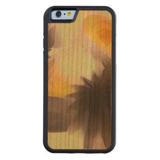 落下星のパステルの抽象芸術 CarvedチェリーiPhone 6バンパーケース