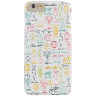 落書きされた野菜のiPhoneの場合カバーを調理しよう Barely There iPhone 6 Plus ケース