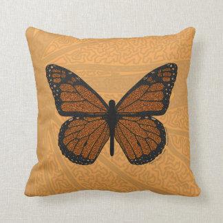 落書きされた(昆虫)オオカバマダラ、モナークの枕 クッション
