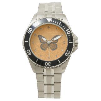 落書きされた(昆虫)オオカバマダラ、モナークの腕時計 腕時計
