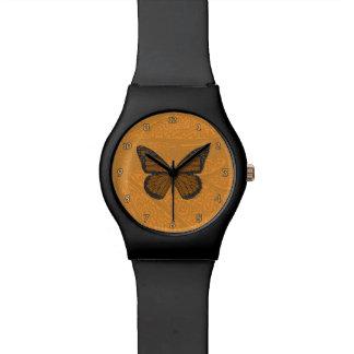 落書きされた(昆虫)オオカバマダラ、モナークMay28thの腕時計 腕時計