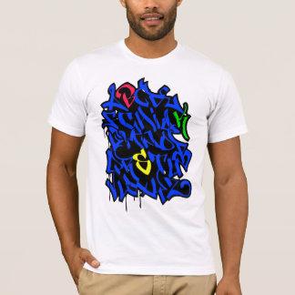 落書きのアルファベット Tシャツ