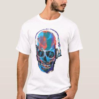 落書きのスカル Tシャツ