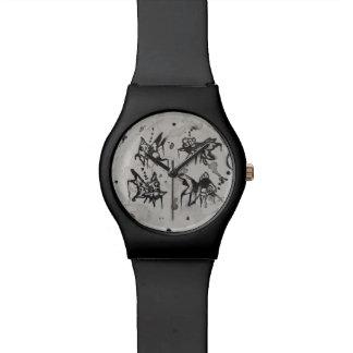 落書きのスタイルの空想のGoldishの腕時計 腕時計