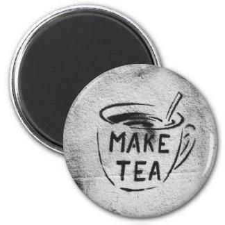 """落書きのステンシル芸術の""""茶""""スローガンの磁石作って下さい マグネット"""