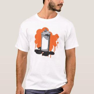 落書きのスプレー容器 Tシャツ