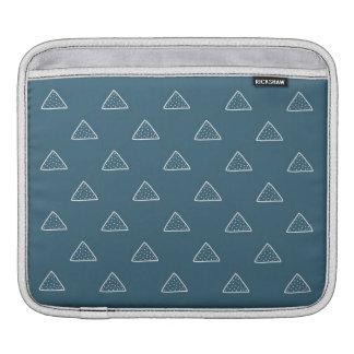 落書きの三角形パターンIpadの青い袖 iPadスリーブ