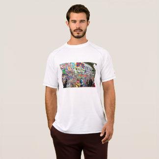 落書きの壁の男性デジタル芸術のワイシャツ Tシャツ