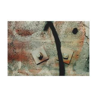 落書きの壁画 キャンバスプリント