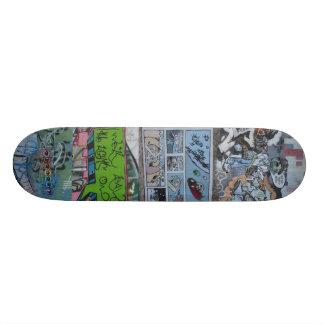 落書きの壁- (セントルイス、Mo)スケートボード 21.6cm スケートボードデッキ