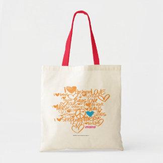 落書きの水かオレンジ トートバッグ