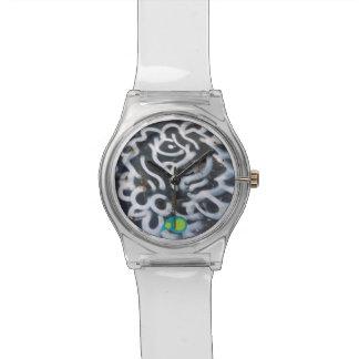 落書きの渦巻 腕時計