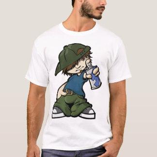 落書きの男の子 Tシャツ