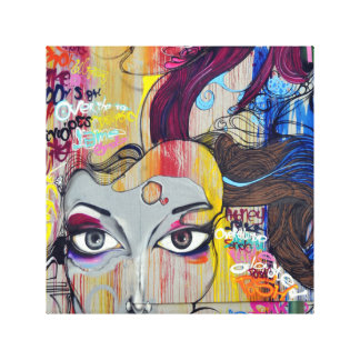落書きの美しいのキャンバスの芸術 キャンバスプリント