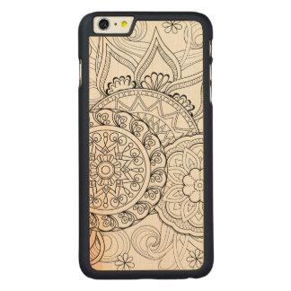 落書きの花および曼荼羅 CarvedメープルiPhone 6 PLUS スリムケース