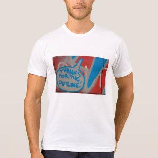 落書きの芸術の上の抽象的なトレンディーの終わりは付きます Tシャツ