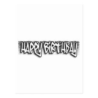 落書きの誕生日 ポストカード