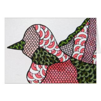 落書きの鳥 カード