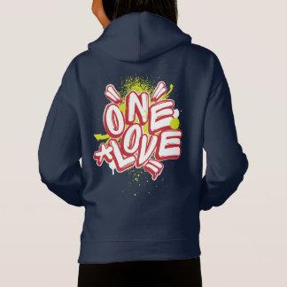 落書きはフード付きスウェットシャツをからかいます: 1つの愛Streewear