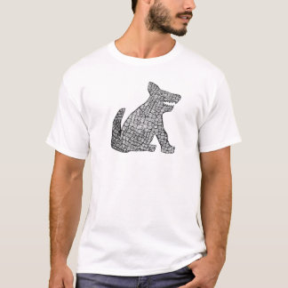 落書き犬 Tシャツ